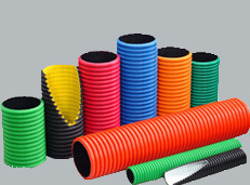 DWC-HDPE pipes for underground cable protection