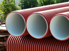 DWC-HDPE pipes for underground drainage, sewerage etc.